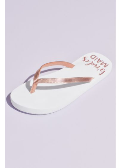 Bridesmaid Glitter Flip Flops - The perfect getting-ready sandal. 'Maids may want to