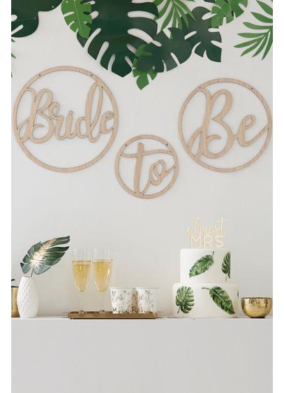 Beige (Wooden Bride To Be Hoop Set)