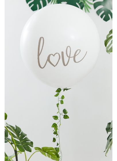 White (Love Balloon with Botanical Garland)