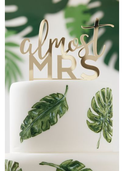 Yellow (Almost Mrs Gold Acrylic Cake Topper)