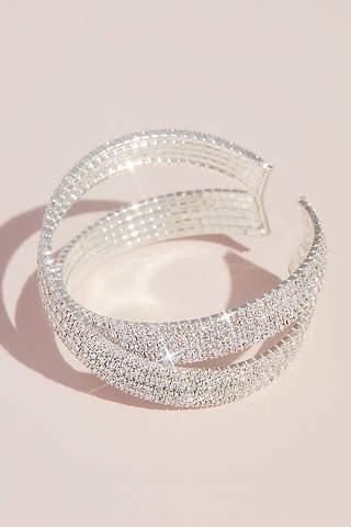 Brazalete Cruzado Con Imitación De Diamantes