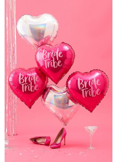 Iridescent Bride Tribe Balloons - Wedding Gifts & Decorations