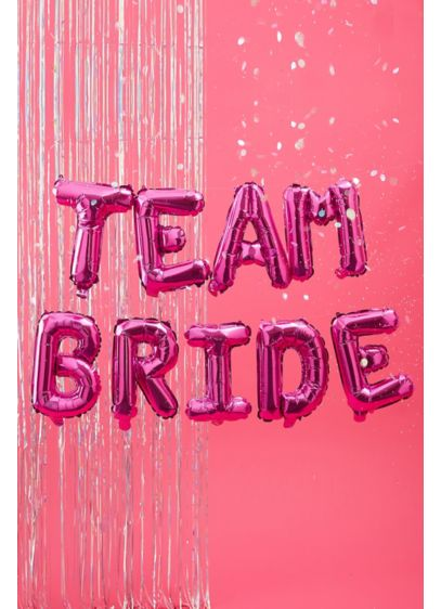 Team Bride Letter Balloons - Wedding Gifts & Decorations