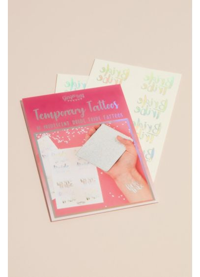 Bride Tribe Holographic Temporary Tattoos - Wedding Gifts & Decorations