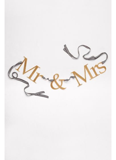 Mr and Mrs Wood Banner - Wedding Gifts & Decorations