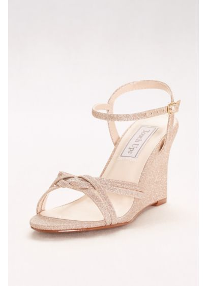 Touch Ups Grey (Woven-Strap Glitter Wedges)