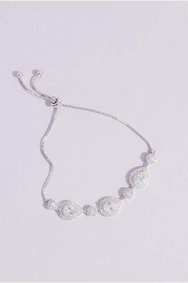 Crystal Teardrop and Crystal Ball Bracelet