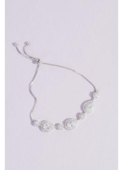 Crystal Teardrop and Crystal Ball Bracelet - Wedding Accessories