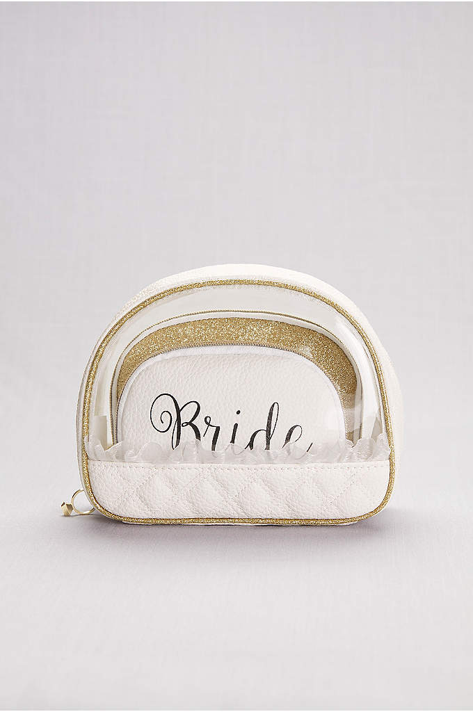 Bride Cosmetic Bag Set - Organize all your big-day essentials in this set