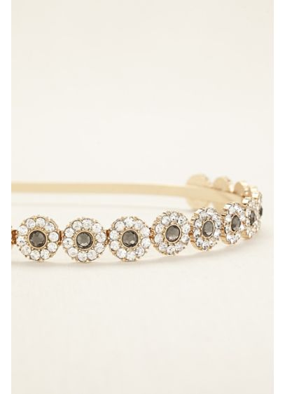 Two Toned Crystal Hard Headband - Wedding Accessories