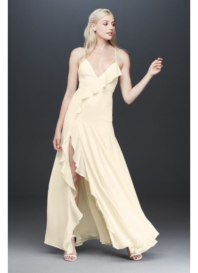 Fame and Partners Callais Ruffle Dress - Flirty and feminine, this dreamy georgette dress features