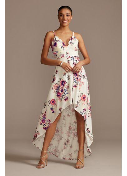 High Low A-Line Spaghetti Strap Bridal Shower Dress - Speechless