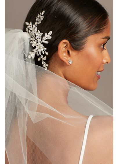 Crystal Leaves and Branches Bridal Hair Vine - For a light-catching and head-turning wedding-day hairstyle, incorporate