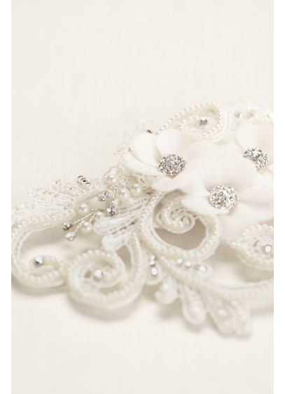 Galina Swirl and Pearl Coordinated Flower Clip - Wedding Accessories