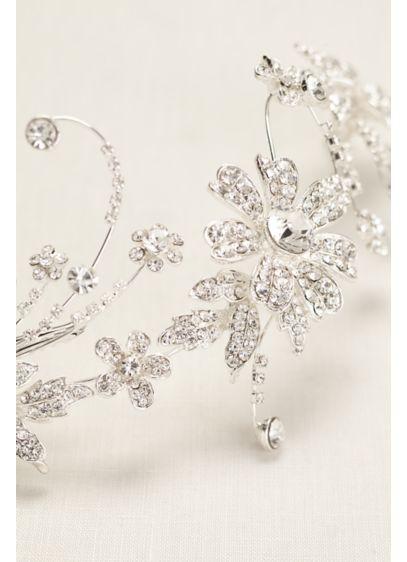 David's Bridal Grey (Crystal Flower Double Clip Comb)