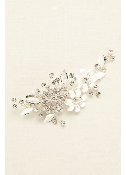 Painted Leaves Rhinestone Comb - Wedding Accessories