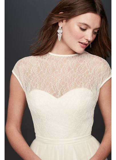 Lace Blouson Wedding Dress Topper - Wedding Accessories