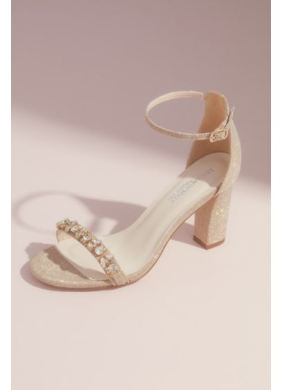 Benjamin Walk Ivory (Crystal-Studded Metallic Block Heels)