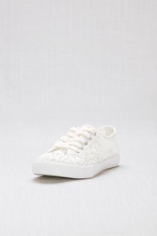 aa3e2f07e David s Bridal White (Crochet Lace Sneakers). Save