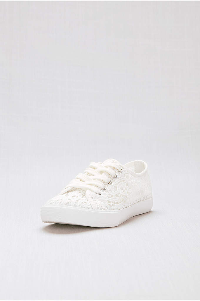 Crochet Lace Sneakers - Sport these sweet crochet lace sneaks under your