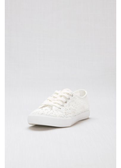 White (Lace Crochet Sneakers)