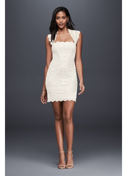Short Sheath Beach Wedding Dress - Nicole Miller