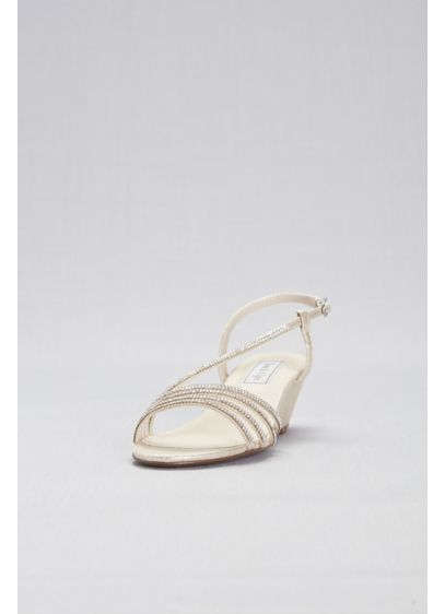 Touch Ups Ivory (Low Shimmer Wedges with Crystal Straps)