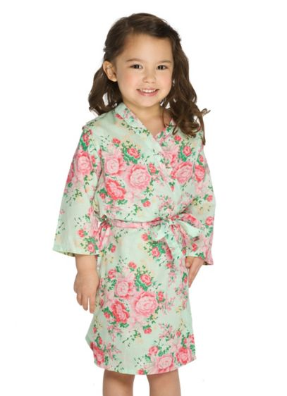 Flower Girl Cotton Floral Robe - Wedding Gifts & Decorations