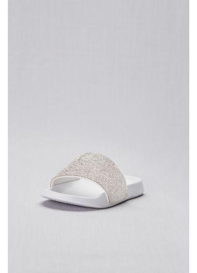 David's Bridal Grey (Crystal-Encrusted Slip-On Slides)