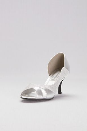 "Touch Ups Grey;Ivory (Metallic D""Orsay Heels with Metallic Fabric Inset)"