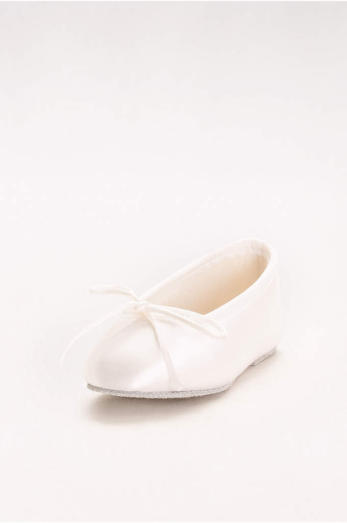 Girls Dyeable Satin Ballerina Flats - The classic ballet flat, perfect for tiny tootsies,