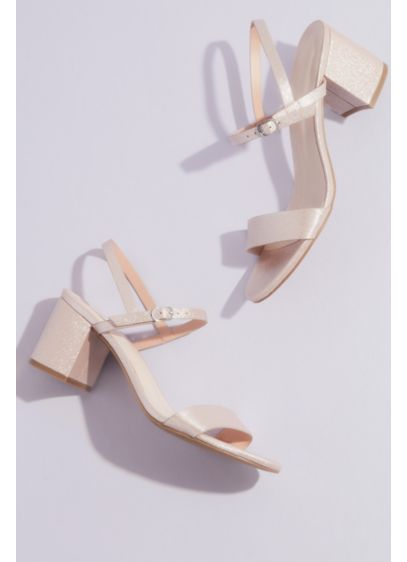 Cinde Strappy Block Heel Sandal - A dash of shine, a sprinkle of class,