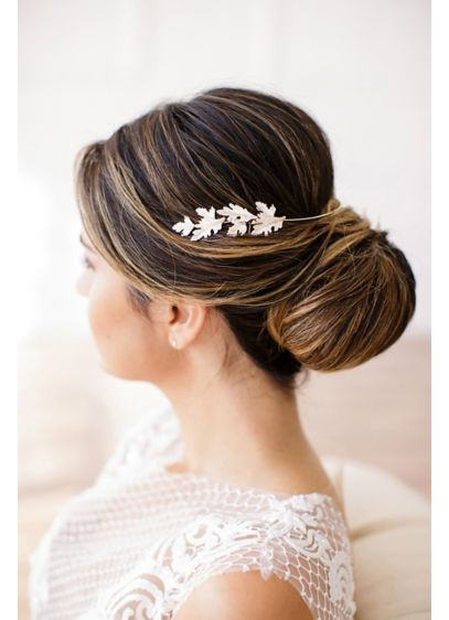 Brides and Hairpins Yellow (Grecian-Inspired Leaf Halo Comb)