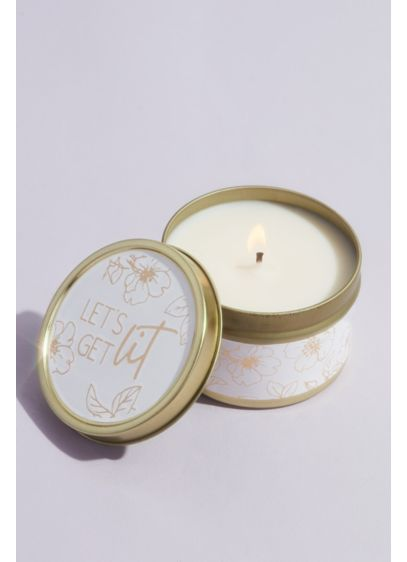 Lets Get Lit Floral Candle Tin - Wedding Gifts & Decorations