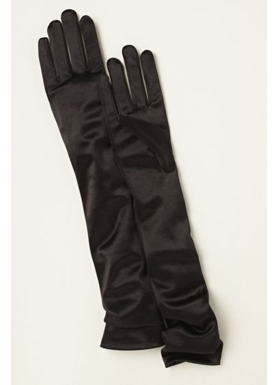 Ivory (Satin Elbow-Length Gloves)