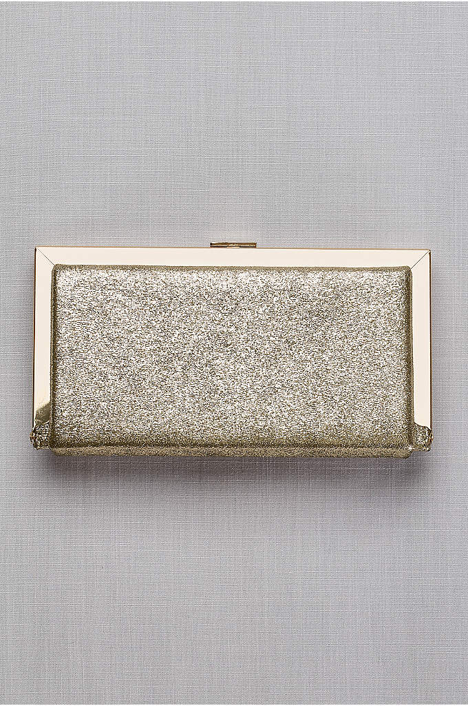 Metallic Fabric Hard-Sided Frame Clutch - Stash your essentials in style with this roomy