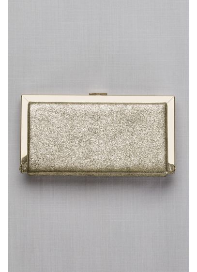 Metallic Fabric Hard-Sided Frame Clutch - Wedding Accessories