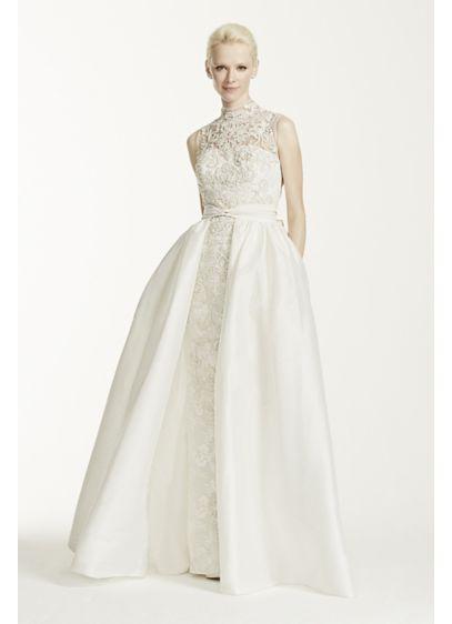 Oleg Cassini High Neck Lace Wedding Dress | David\'s Bridal