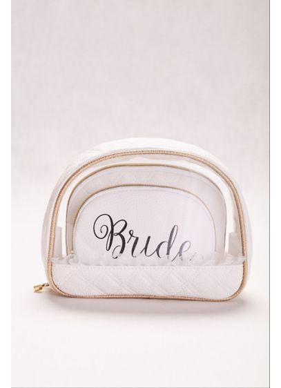 Bride Cosmetic Bags Set of 3 - Wedding Gifts & Decorations