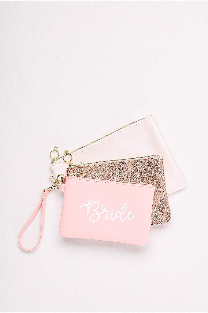 Bride Wristlets Set of 3 - Three pouches make organizing your gear a cinch.