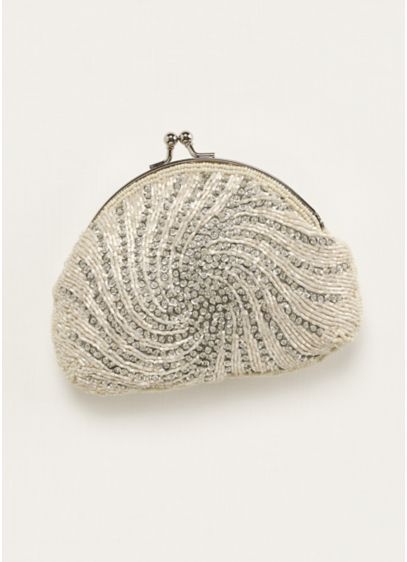 Jessica McClintock Bead and Sequin Handbag - Wedding Accessories
