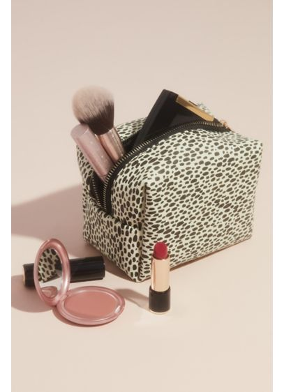 Multi (Animal Print Zippered Cosmetics Bag)