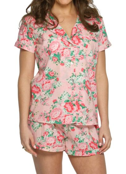 Cotton Floral Pajama Set - Wedding Gifts & Decorations