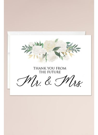 Thank You From the Future Mr and Mrs - Send a meaningful thank you for engagement or