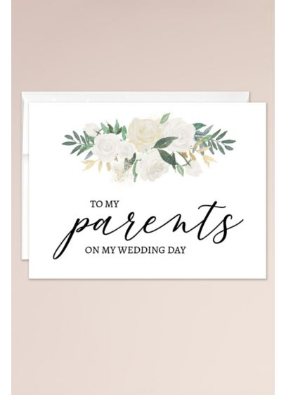 To My Parents on My Wedding Day Blank Card - Wedding Gifts & Decorations