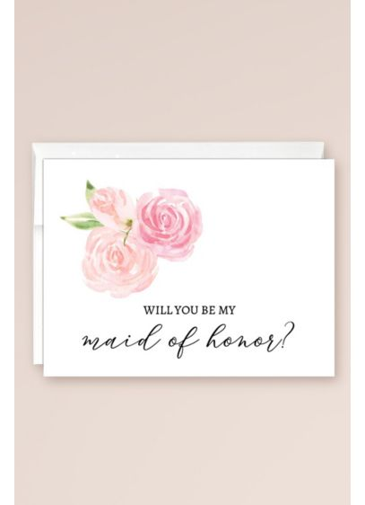 Will You Be My Maid of Honor Blank Card - Wedding Gifts & Decorations