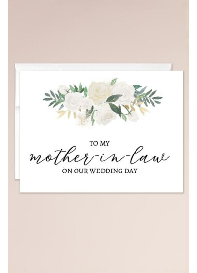 To My Mother in Law on My Wedding Day Blank Card - Wedding Gifts & Decorations