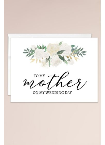 To My Mother on My Wedding Day Blank - Jot down your thoughts and feelings in this