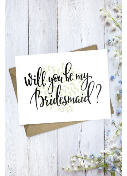 Will You Be My Bridesmaid Wedding Card - Wedding Gifts & Decorations