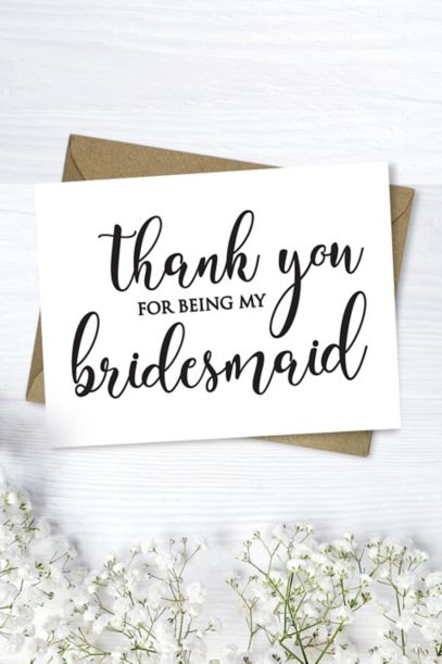 Bridesmaid Thank You Card David S Bridal